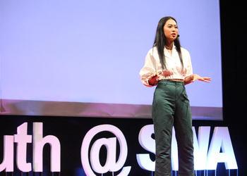 Jessica Halim, Maria Rahajeng, Andreas Diantoro Inspired Students during TEDx Event at Sinarmas World Academy
