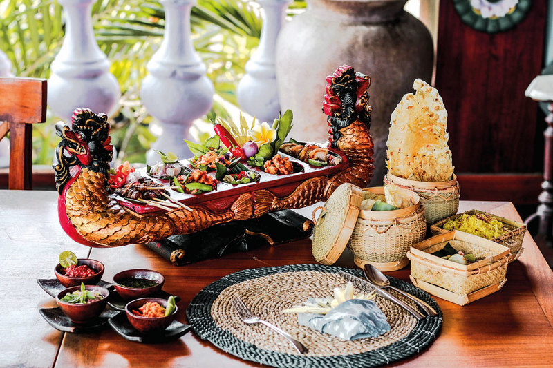 Balinese food on table