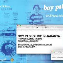 Boy Pablo - Live in Jakarta