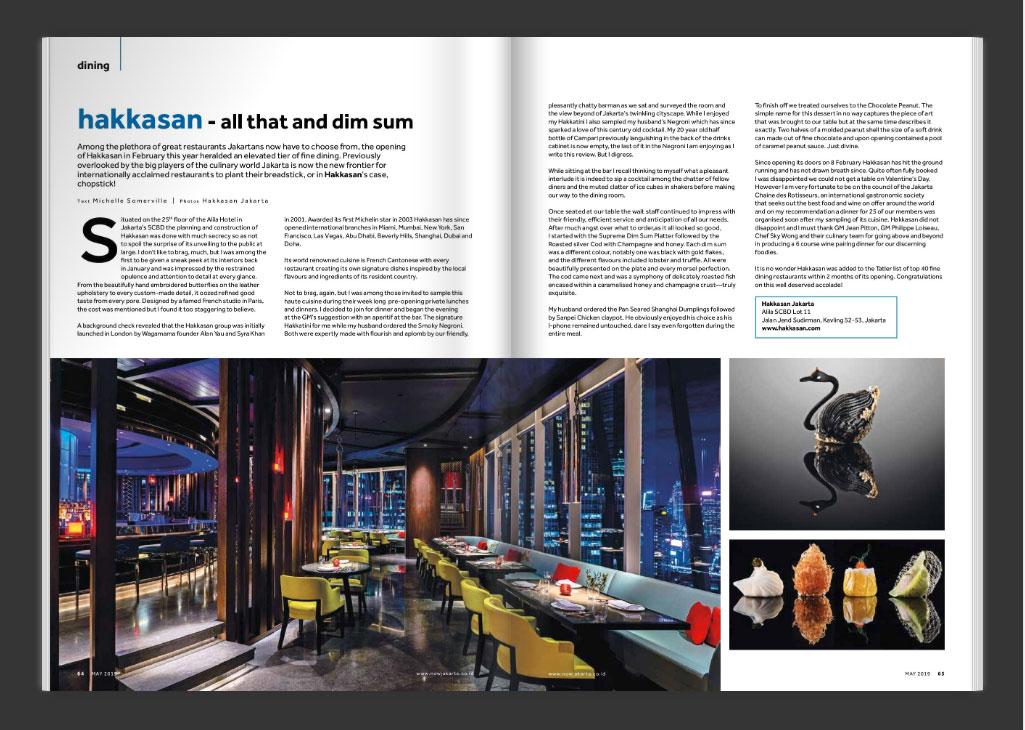 now jakarta magazine issue  may 2019 DINING